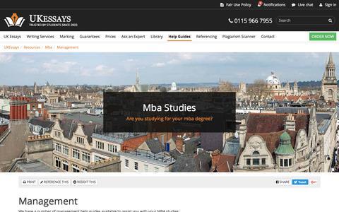 Screenshot of Team Page ukessays.com - Management | MBA Help - captured Aug. 21, 2016