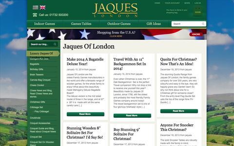 Screenshot of Press Page jaqueslondon.co.uk - Jaques Of London - captured Sept. 24, 2014