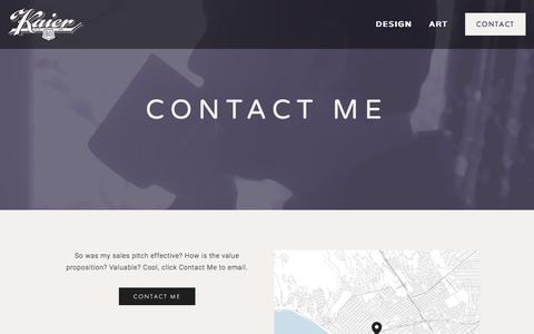 Screenshot of Contact Page bokaier.com - Contact — Bo Kaier - captured Feb. 7, 2016
