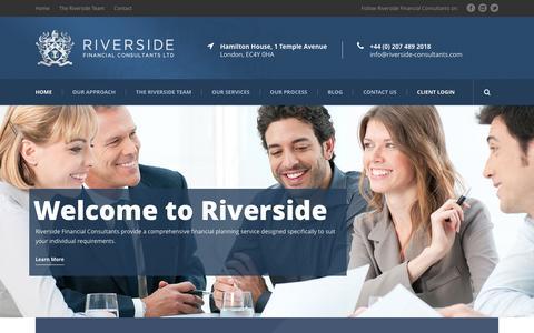 Screenshot of Home Page riverside-consultants.com - Riverside Financial Consultants - captured Jan. 22, 2016