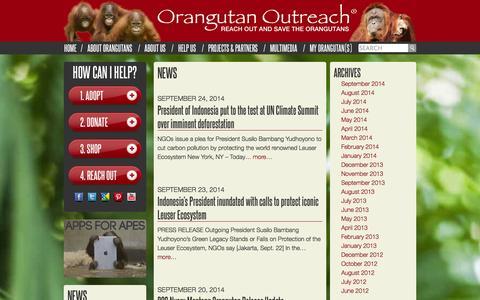 Screenshot of Press Page redapes.org - News - captured Oct. 1, 2014