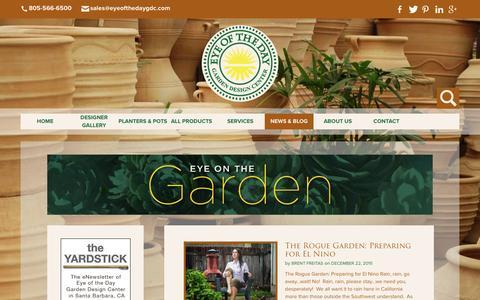Screenshot of Blog eyeofthedaygdc.com - Blog - Eye of the Day Garden Design Center - captured Feb. 2, 2016