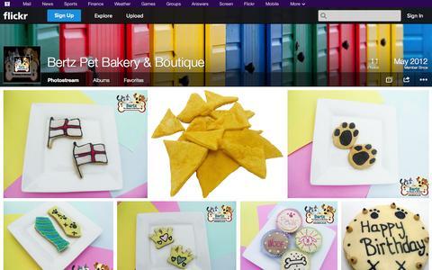 Screenshot of Flickr Page flickr.com - Flickr: Bertz Pet Bakery & Boutique's Photostream - captured Oct. 26, 2014