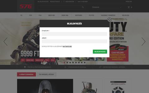 Screenshot of Login Page 576.hu - Főoldal  - 576 KByte - captured Nov. 2, 2014