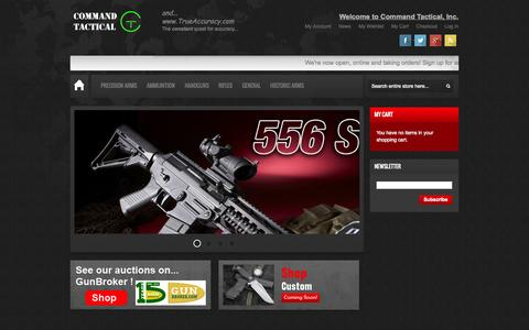 Screenshot of Home Page comm-tac.com - Command Tactical, Inc in United States | Gun Shop | Firearms For Sale - captured Sept. 19, 2014