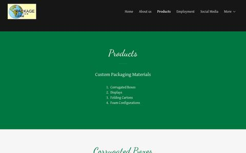 Screenshot of Products Page pdgusa.com - Products | Package Design Global - captured Sept. 26, 2018