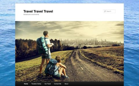 Screenshot of Home Page travel-travel-travel.com - A Travel Passion Website - captured March 10, 2016