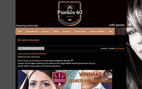 Screenshot of Blog pueblo40.nl - De laatste nieuwtjes - captured Oct. 15, 2018