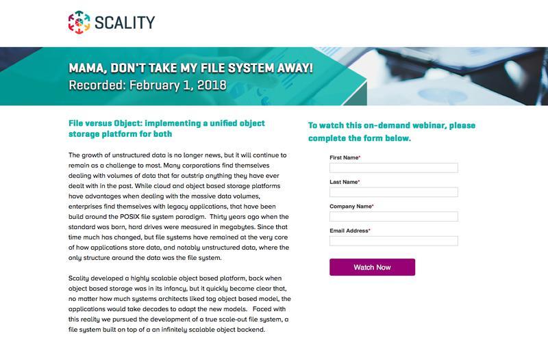 Scality Webinar