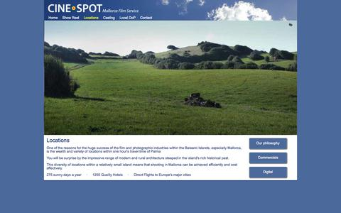 Screenshot of Locations Page cinespot.es - CINESPOT Locations - captured Sept. 26, 2014