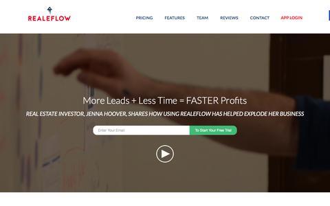 Screenshot of Home Page realeflow.com - Real Estate Investing Software | Realeflow - captured Jan. 10, 2016