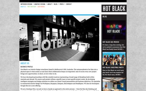 Screenshot of About Page hotblack.com.au - Hot Black   »  About Us - captured July 10, 2017