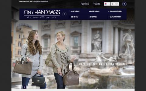Screenshot of Home Page only-handbags.com - Only Handbags - captured Aug. 30, 2015
