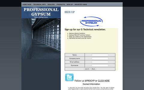 Screenshot of Signup Page pro-gyp.com - SIGN UP - captured Oct. 1, 2014