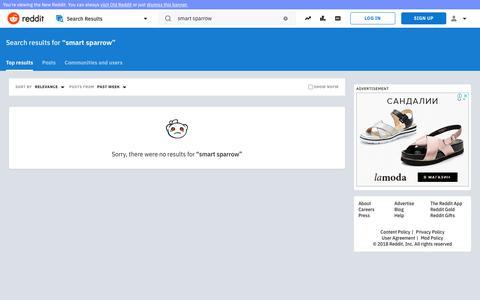 reddit.com: search results - smart+sparrow