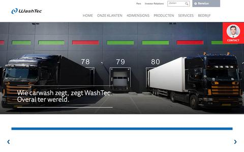 Screenshot of Home Page washtec.nl - WashTec (NL) - captured Oct. 19, 2017