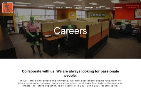 Screenshot of Jobs Page area51esg.com - Careers Ń Supplier Diversity - Electronic Component Distributor - Area51 - captured Jan. 17, 2016