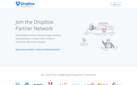 Join the Dropbox Partner Network