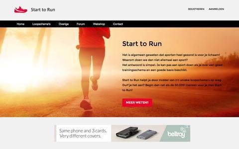 Screenshot of Home Page start-to-run.be - Start to Run - Beginnen met lopen - captured Oct. 12, 2015