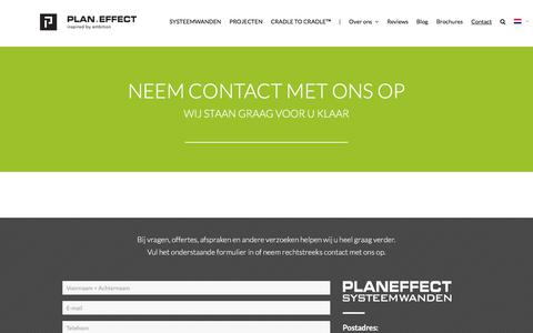 Screenshot of Contact Page planeffect.nl - Contact | Plan Effect - captured July 18, 2018