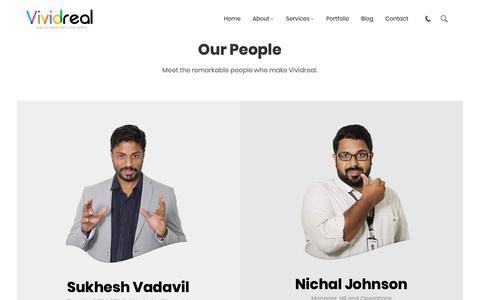 Screenshot of Team Page vividreal.com - Our People – Vividreal Solutions Pvt. Ltd - captured Nov. 18, 2018