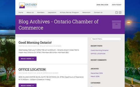 Screenshot of Blog ontario.org - Blog Archives - Ontario Chamber of Commerce - captured Feb. 2, 2018