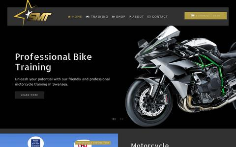 Screenshot of Home Page smart-training-swansea.co.uk - Swansea Motorbike Training - Smart Motorcycle Training & Accessories - captured Jan. 24, 2017