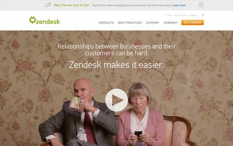 Screenshot of Home Page zendesk.com - Zendesk.com | Customer Service Software | Support Ticket System - captured July 11, 2014