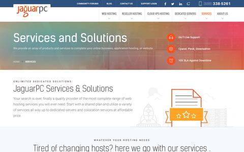 Screenshot of Services Page jaguarpc.com - Services - Jaguarpc - captured Dec. 2, 2016