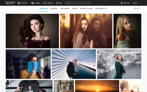 Screenshot of Team Page 500px.com - Most Popular People Photos on 500px Right Now - captured Jan. 30, 2016