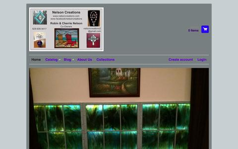 Screenshot of Home Page nelsoncreations.com - Home – Nelson Creations - captured Jan. 22, 2015
