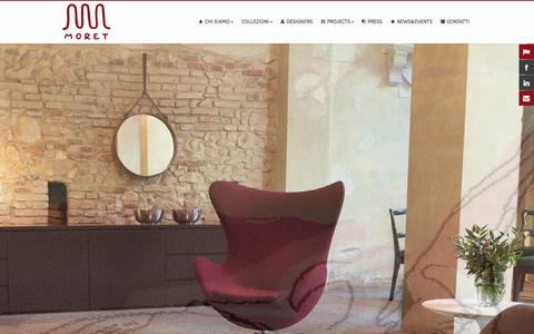 Screenshot of Home Page moret.it - MORET - Italian Luxury Design - captured Jan. 10, 2016