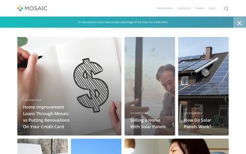 Screenshot of Blog joinmosaic.com - Blog - Join Mosaic - captured April 8, 2019