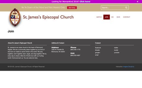 Screenshot of Signup Page doers.org - Join - St. James's Episcopal Church - captured Feb. 16, 2016