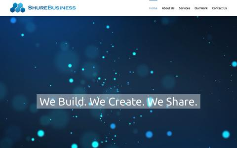 Screenshot of Home Page shurebusiness.com - Home - Shure Business Inc. - captured Oct. 20, 2018