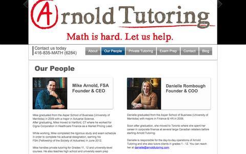 Screenshot of Team Page arnoldtutoring.com - Arnold Tutoring   Our People   Math Tutors - captured July 26, 2016
