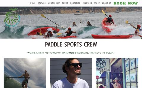 Screenshot of Team Page paddlesportsca.com - Our Team — Paddle Sports Center - captured Feb. 17, 2019