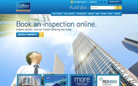 Screenshot of FAQ Page mckenziehall.com.au - Commercial Property For Sale | Commercial Property for Lease | Colliers International - captured Oct. 4, 2014