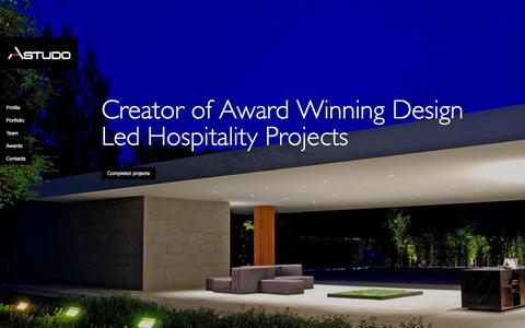 Screenshot of Home Page astudo.com - Homeslides - Astudo : Creative Hospitality Consultants Astudo : Creative Hospitality Consultants - captured Feb. 6, 2016
