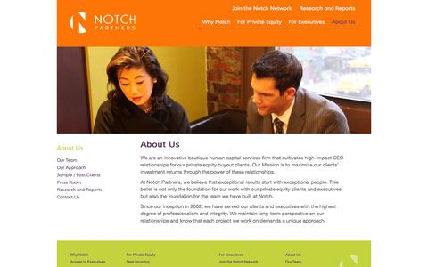 Screenshot of About Page notchpartners.com - About Us | Notch Partners - captured Oct. 26, 2014