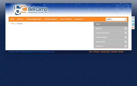 Screenshot of Site Map Page bellcampinc.com - Bellcampinc.com Site Map - captured Nov. 22, 2016