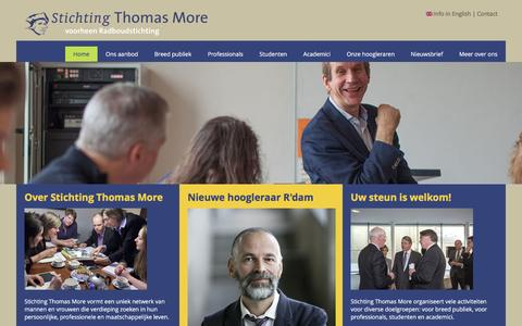 Screenshot of Home Page thomasmore.nl - Stichting Thomas More - captured March 4, 2016