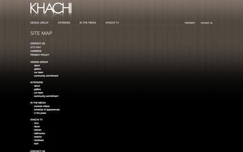 Screenshot of Site Map Page khachi.com - Site Map  -  Khachi Design Group - captured Oct. 6, 2014