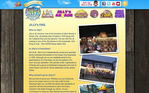 Screenshot of FAQ Page jillysoc.com - Jilly's Frequently Asked Questions - captured Oct. 6, 2014