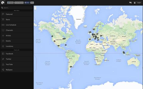 Screenshot of Locations Page be-at.tv - Countries - BE-AT.TV - captured Sept. 24, 2014