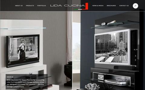 Screenshot of Press Page lidacucina.co.uk - Media Storage Systems, Futurehome, Lida Cucina - captured Nov. 7, 2016