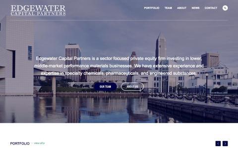 Screenshot of Home Page edgewatercapital.com - Edgewater Capital Partners - captured Sept. 21, 2015