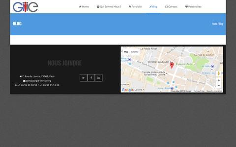 Screenshot of Blog gie-invest.org - Blog | GIE - captured Oct. 20, 2016