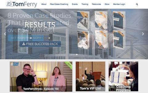 Screenshot of Home Page tomferry.com - Tom Ferry - captured Feb. 19, 2017
