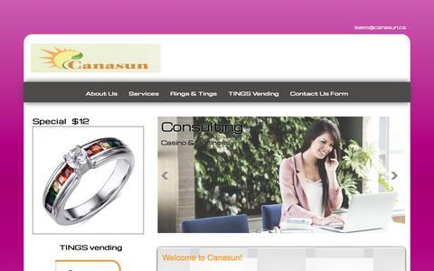 Screenshot of Home Page canasun.ca - Canasun-Home-Canasun - captured Sept. 26, 2018